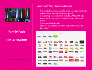 Astro Family Package Detail