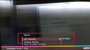 User Interface Guide for OD Trailer Download Step 3